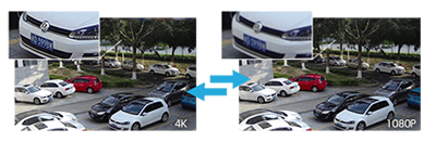 H.265+/4K(8M)屋外防雨PoEネットワークカメラ(RK-830AE1)の解像度比較