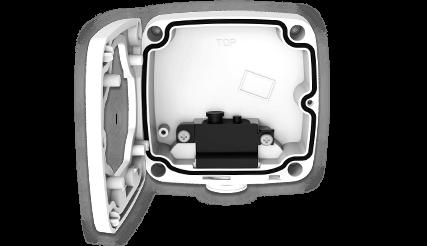 H.265+/4K(8M)屋外防雨PoEネットワークカメラ(RK-830AE1)は標準でジャンクションボックスが付属。