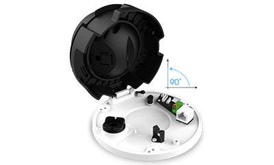 H.265+ビデオ圧縮技術に対応した屋外5メガピクセルネットワークドーム型カメラ(RK-520CE)の設置作業を容易にした設計