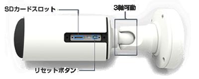 屋外4K(800万画素)ネットワークカメラ(RK-815DE1)は砲弾型ボディを採用
