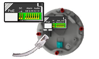 屋外4K(800万画素)ネットワークカメラ(RK-815DE1)は一つのインターフェイスに統合されています。