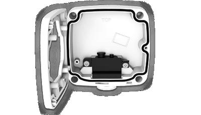 屋外4K(800万画素)ネットワークカメラ(RK-815DE1)は標準でジャンクションボックスが付属。