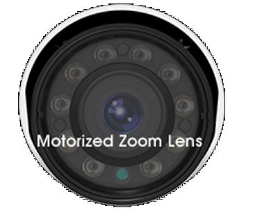 H.265+対応、屋外防雨5MP PoEネットワークカメラ(RK-520FE)は電動ズームレンズを搭載