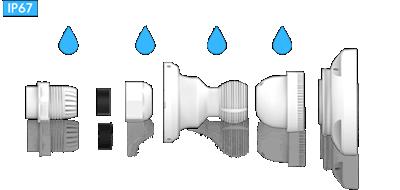 H.265+対応、屋外防雨5MP PoEネットワークカメラ(RK-520FE)は、雨ざらしの場所にも設置可能です。