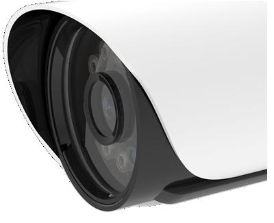 H.265+対応、屋外防雨5MP PoEネットワークカメラ(RK-520GE)は、単焦点レンズを搭載