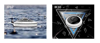 12MP(1200万画素)全方位 360°ネットワークカメラ(RK-1218HE)は、屋外バンダル仕様