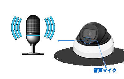 5MP 屋外 IR 小型ドーム型PoEネットワークカメラ(RK-520NE)は、集音マイクを搭載していますので音声をモニターリングすることができます。