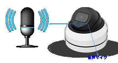 5MP 屋外 IR 小型ドーム型PoEネットワークカメラ(RK-520NEA)は音声マイクを搭載しています