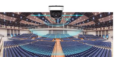 ネットワークカメラ超広角180°パノラマ撮影を実現