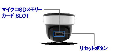 パノラマドーム型ネットワークカメラは、マイクロSDで録画に対応