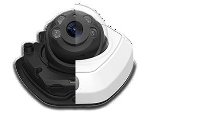 H.265+対応 5MP 屋外小型ドーム型PoEネットワークカメラ(RK-520RE)は、夜間暗闇でも撮影可能な赤外線掃射機能を搭載