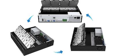 4K/H.265+対応 32CH ネットワークカメラビデオレコーダー(RK-X032)最適化されたHDDレイアウト設計