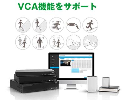 4K/H.265+対応 32CH ネットワークカメラビデオレコーダー(RK-W032)は、ビデオコンテンツ分析機能に対応しています。