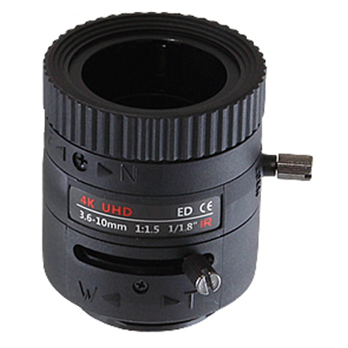 8M対応 f=3.6-10mm VFレンズ(KVM0750DIR)